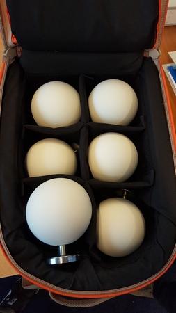 Scannerkit met 6 stuks witte bollen 100mm