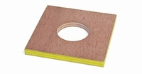 MOUS multiplex plaat 200x200mm, sparing 80mm