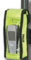 Tasje voor telefoon op stok met klittebandbevestiging
