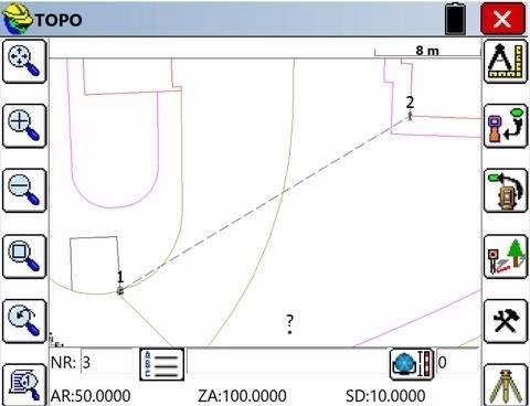 SurvCE, Basis Total Station + waterpasinstrument + CAD