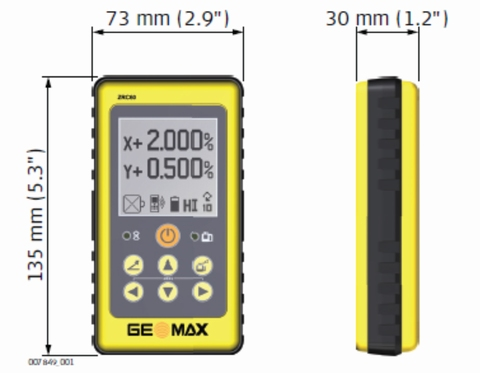 GeoMax ZRC60 afstandsbediening